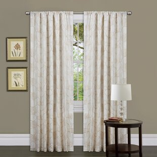 Circle Charm Geometric Semi-Sheer Rod Pocket Single Curtain Panel by Special Edition by Lush Decor
