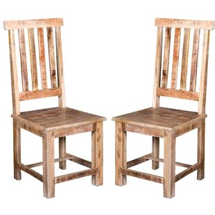 Johson Solid Wood Dining Chair (Set Of 2) by Bloomsbury Market Comparison