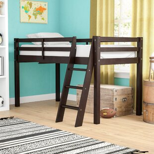 Kwinana Wood Framed Twin Low Loft Bed with Ladder