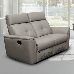 Fish Leather Reclining Loveseat