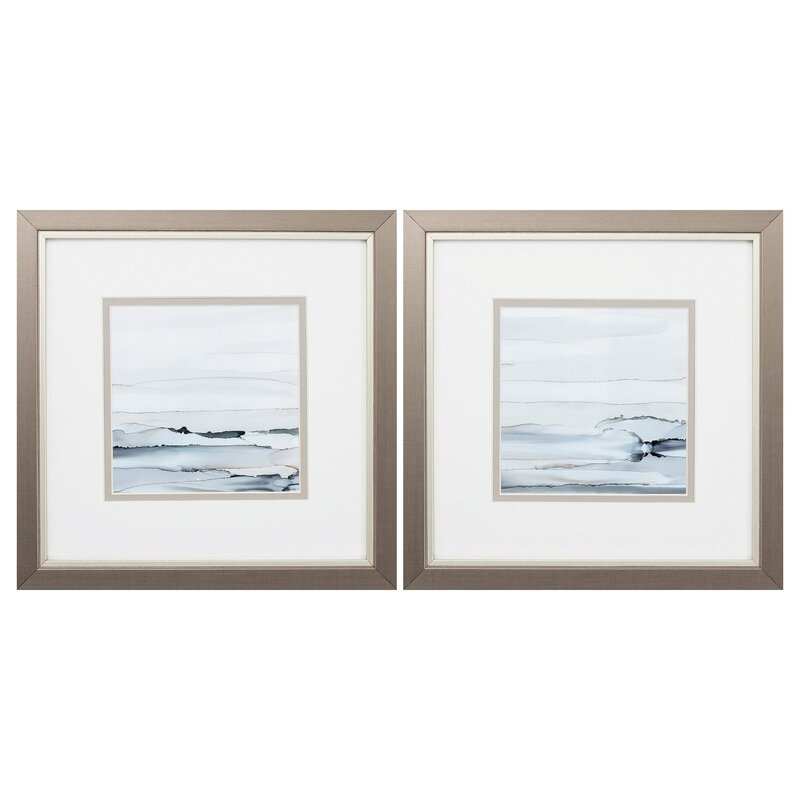 Rosecliff Heights Sunkissed Horizons 2 Piece Picture Frame Painting Print Set On Paper Wayfair
