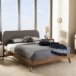 unique king bed frame solid wood steen upholstered platform bed modern contemporary beds allmodern