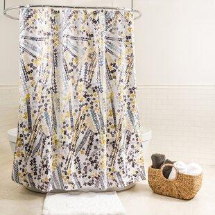Offutt Floral Fabric Single Shower Curtain