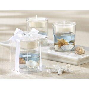 Regina Seashell Glass Tealight Holder (Set of 10)