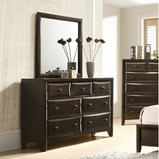 Meryl 7 Drawer Dresser with Mirror by Charlton Home