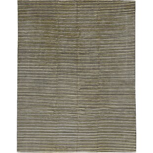 Reviews One-of-a-Kind Himalayan Art African Zebra Hand-Knotted Wool Black/White Area Rug By Bokara Rug Co., Inc.
