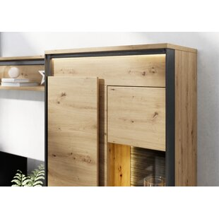 Carbone Standard Display Cabinet With Lighting By 17 Stories