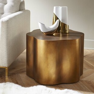 Savings Loretto Copper End Table ByWade Logan
