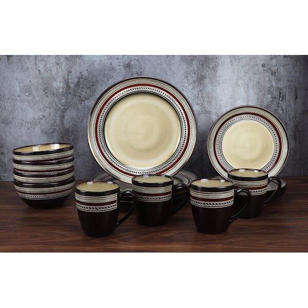 Lorren Home Trends 16 Piece Glazed Dinnerware Set Service For 4 Reviews Wayfair