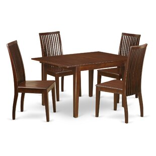 Lorelai 5 Piece Solid Wood Dining Set by ..