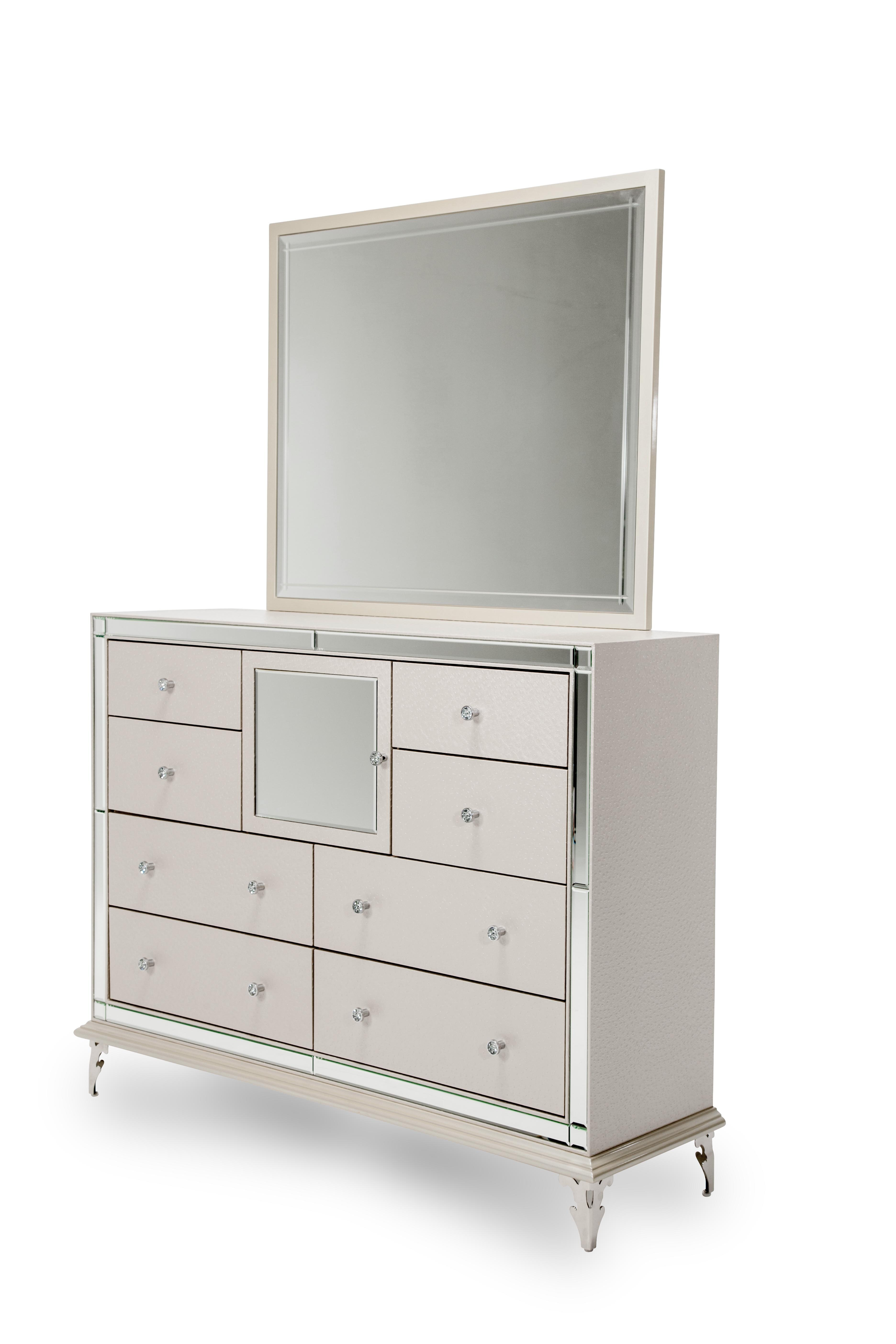 Michael Amini Hollywood Loft 8 Drawer Combo Dresser With Mirror Reviews Wayfair
