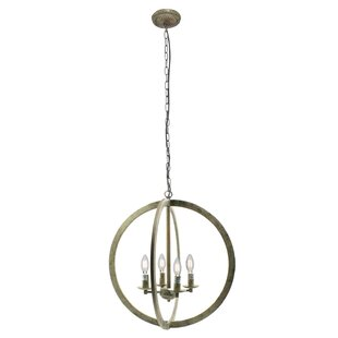 Westphalia 4-Light Globe Chandelier by Bungalow Rose