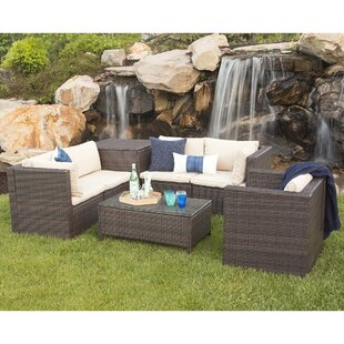 Hilaria 5 Piece Deep Seating Group with Cushions