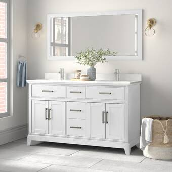 Ebern Designs Syble 60 Double Bathroom Vanity Set Reviews Wayfair
