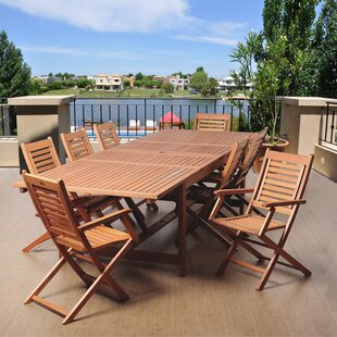 Rosecliff Heights Ashford 9 Piece Wood Dining Set