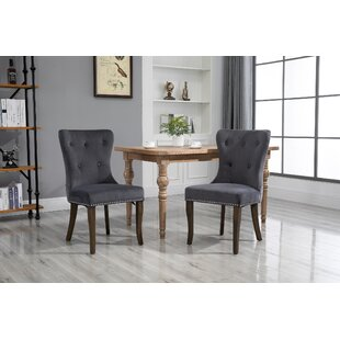 Dark Red, Velvet HNNHOME/® Set of 2 Kitchen Dining Chair Soft Velvet High Back Lounge Living Room Reception Chair