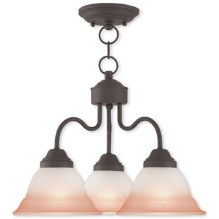 Compare & Buy Stoudt 3-Light Shaded Chandelier By Alcott Hill