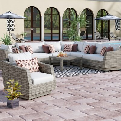 Ordinaire Castelli 9 Piece Sectional Seating Group With Cushions