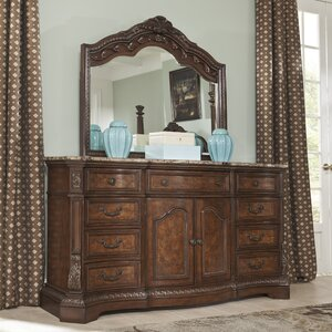 Carnearney 9 Drawer Combo Dresser with Mirror by Astoria Grand