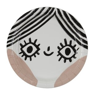 Bright Eyes Paper Plate (Set of 8)