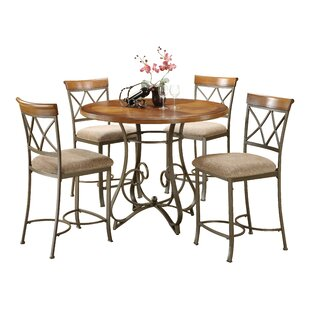 Andover Mills Court 5 Piece Counter Height Dining Set
