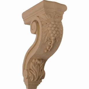 Holmdel 13 1/4 inch H x 4 1/4 inch W x 8 inch D Grapes and Vines Corbel in Cherry