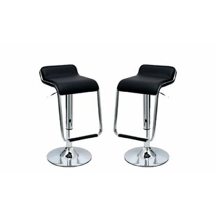 Crosby Adjustable Height Swivel Bar Stool (Set of 2) by Wade Logan