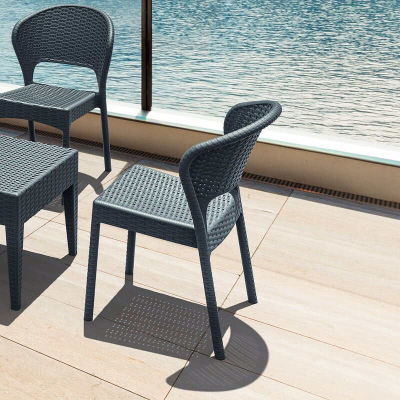 Brayden Studio Ketterman Stacking Patio Dining Chair ...