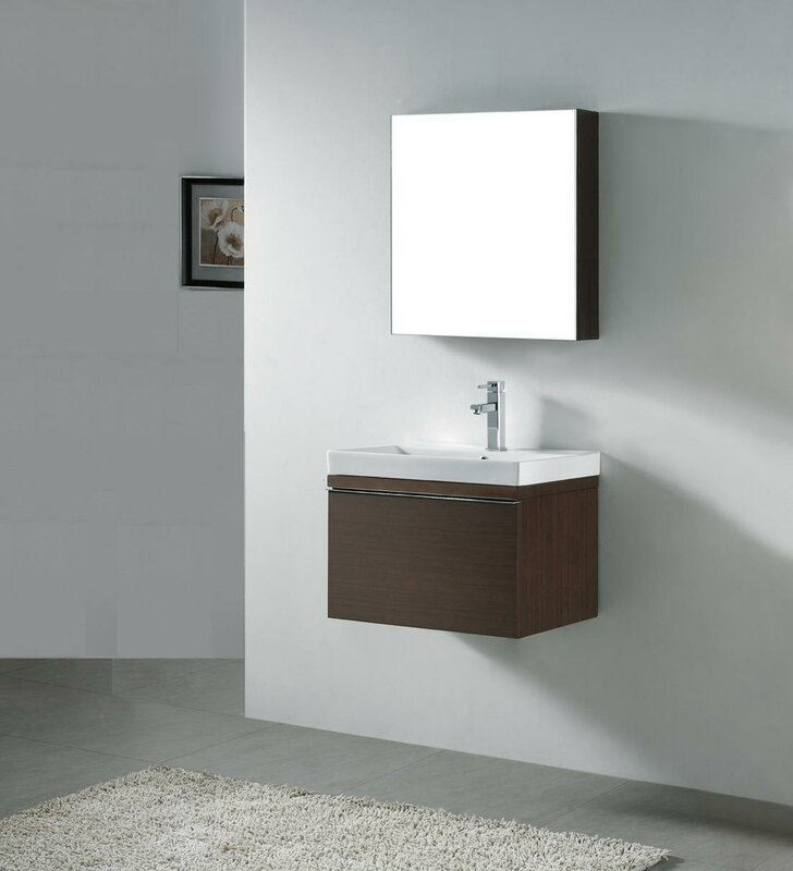 "madeli venasca 24"" single wall mount bathroom vanity set & reviews"