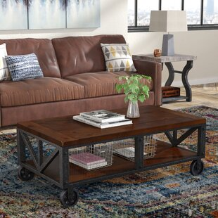 Comparison Warleigh Coffee Table with Casters ByGracie Oaks