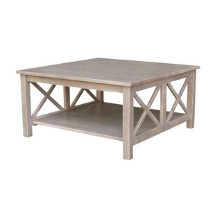Gabby Wood Coffee Table by Highland Dunes