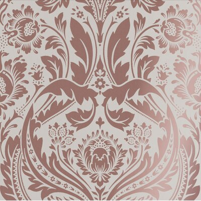 Graham & Brown Desire Black Wallpaper Colour: Pink