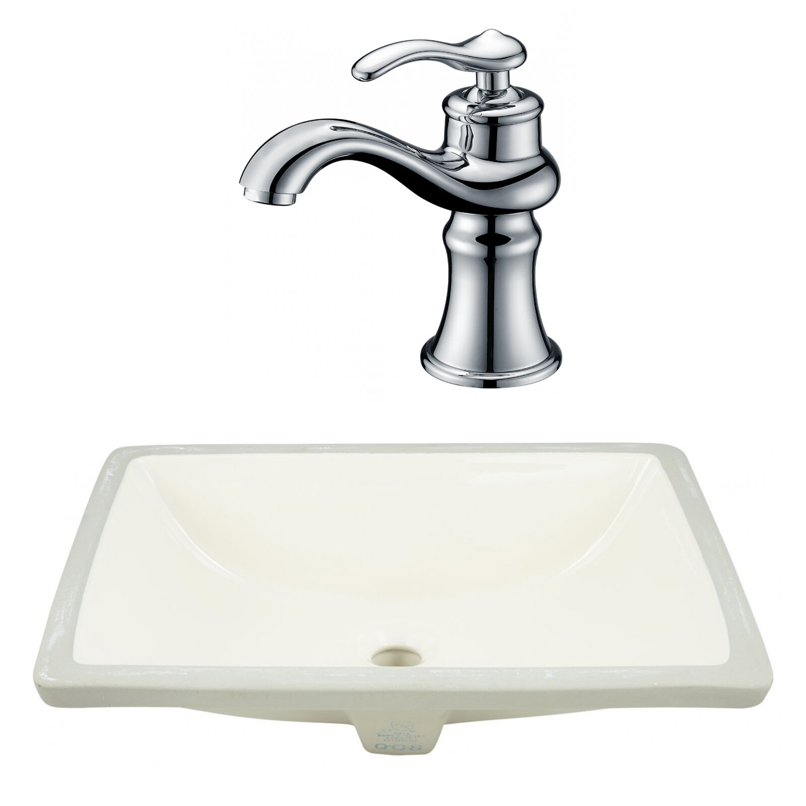 Royalpurplebathkitchen Csa Ceramic Rectangular Undermount Bathroom Sink With Faucet And Overflow Wayfair Ca