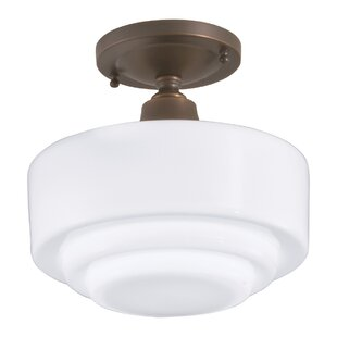 Fredericksen 1-Light Semi-Flush Mount