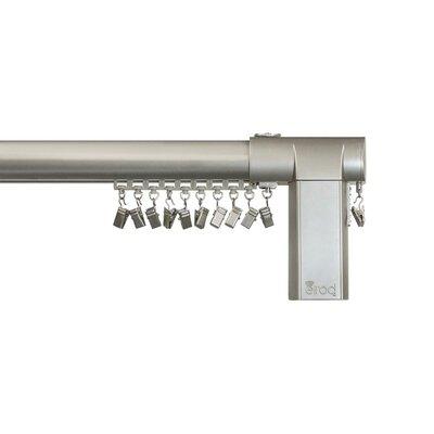 Beme International Motorized Erod Center Open Single Curtain Rod and Hardware Set Finish: Nickel, Size: 80 - 144 W