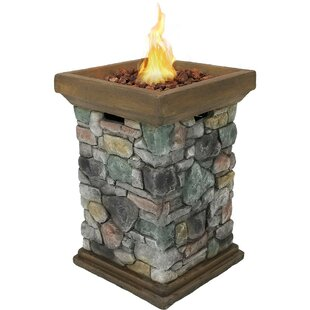 Darby Home Co Elmo Stone Propane Fire Col..