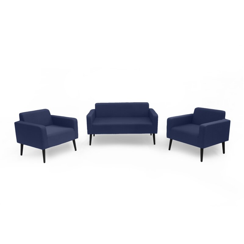 Ivy Bronx  Stein Outdoor 3 Piece Sofa Seating Group with Cushions