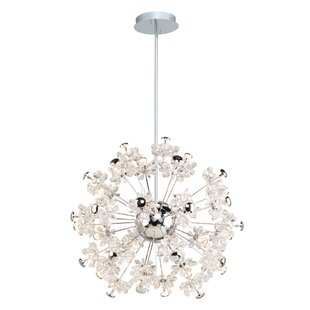 Blossom 37-Light LED Crystal Chandelier b..