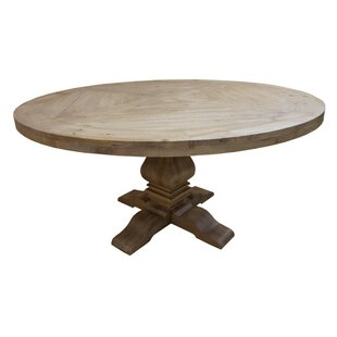Magaw Solid Wood Dining Table Loon Peak