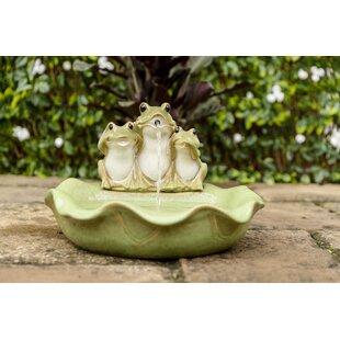 Nora Ceramic Frog Fountain Image