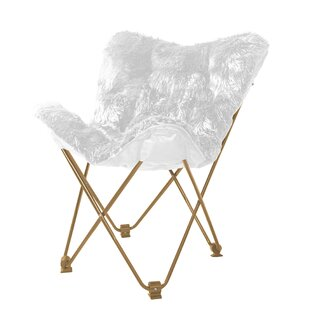 Gayle Mongolian Faux Fur Butterfly Chair by Willa Arlo Interiors