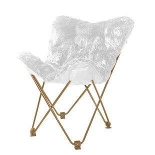 Renata Mongolian Faux Fur Butterfly Chair
