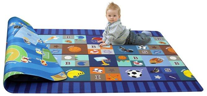 Kid S Playmat In Star Player Polyvinyl Blue Indoor Outdoor Area Rug