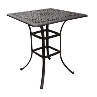 Wade Aluminum Bar Table by Alcott Hill Looking for