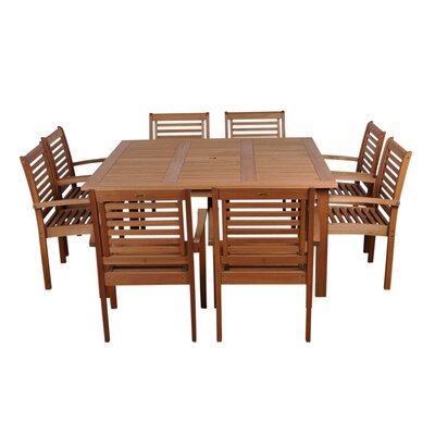 Mcniel International Home Outdoor 9 Piece Dining Set by Highland Dunes New Design