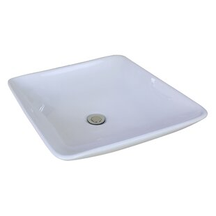 Purchase Ceramic Square Vessel Bathroom Sink By American Imaginations