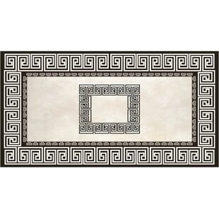 Nasser Black/Light gray Indoor/Outdoor Area Rug