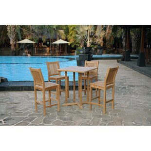 Rosecliff Heights Piper 5 Piece Teak Dining Set