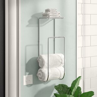 Bath towel holder Wall Hung Espana Wall Mounted Towel Rack Wayfair Towel Racks Youll Love Wayfair