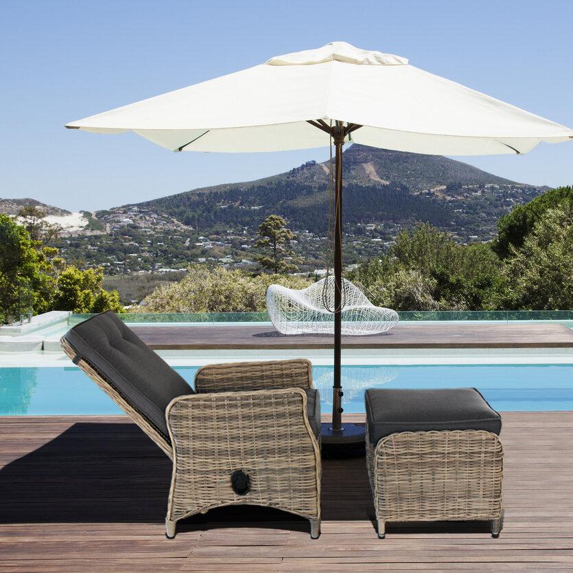 Magari Modern Contemporary Outdoor Pool Patio Furniture Lounge Chair |  Wayfair